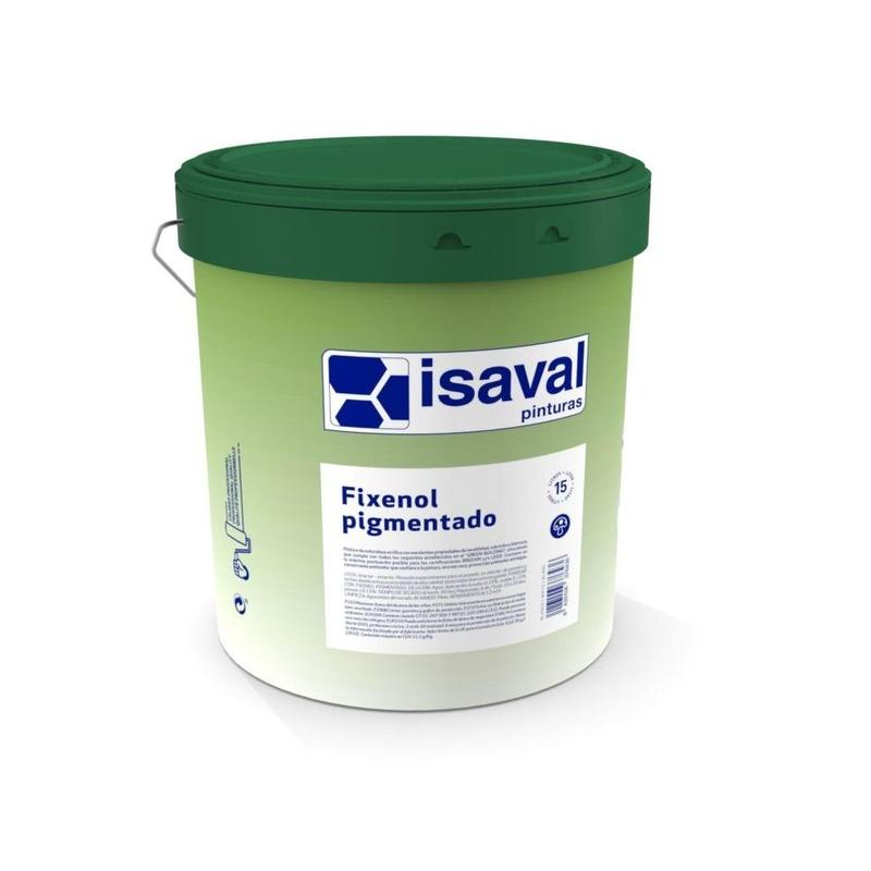 Fixenol pigmentado de ISAVAL en almacén de pinturas en ciudad lineal.