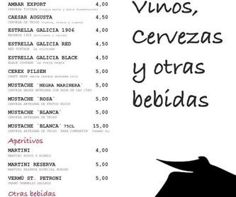 CARTA RIAS BAJAS -CLARA DEL REY-: Carta de Restaurante Rías Bajas Clara del Rey