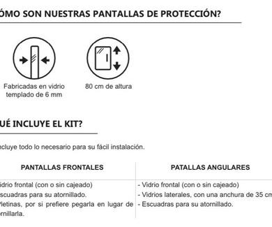 COVID-19 MAMPARAS DE PROTECCIÓN