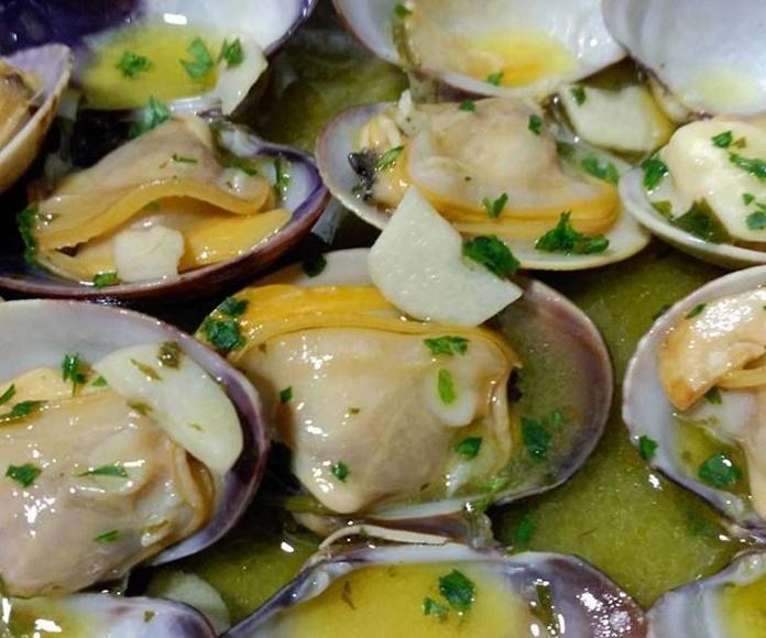 Mariscos y pescados: Carta de Vago Viños Cambados