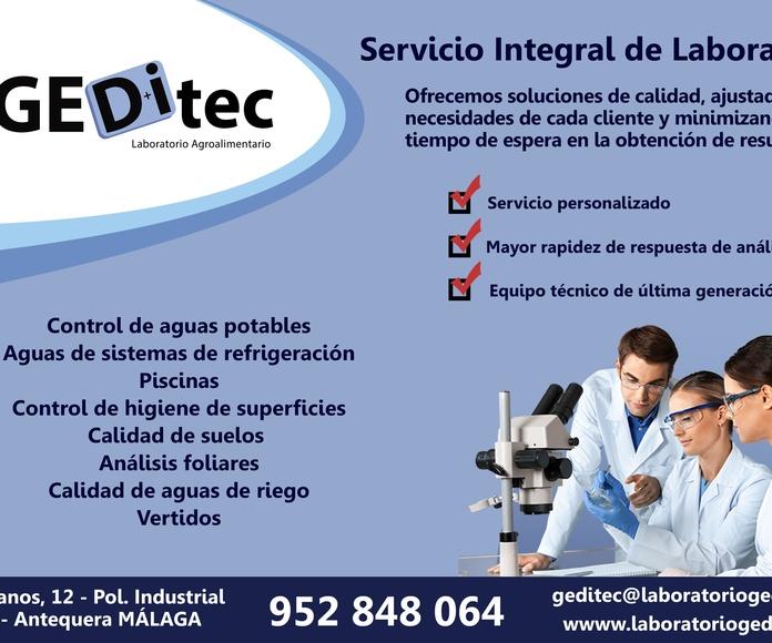 Laboratorio Geditec: Servicios de Gedysa