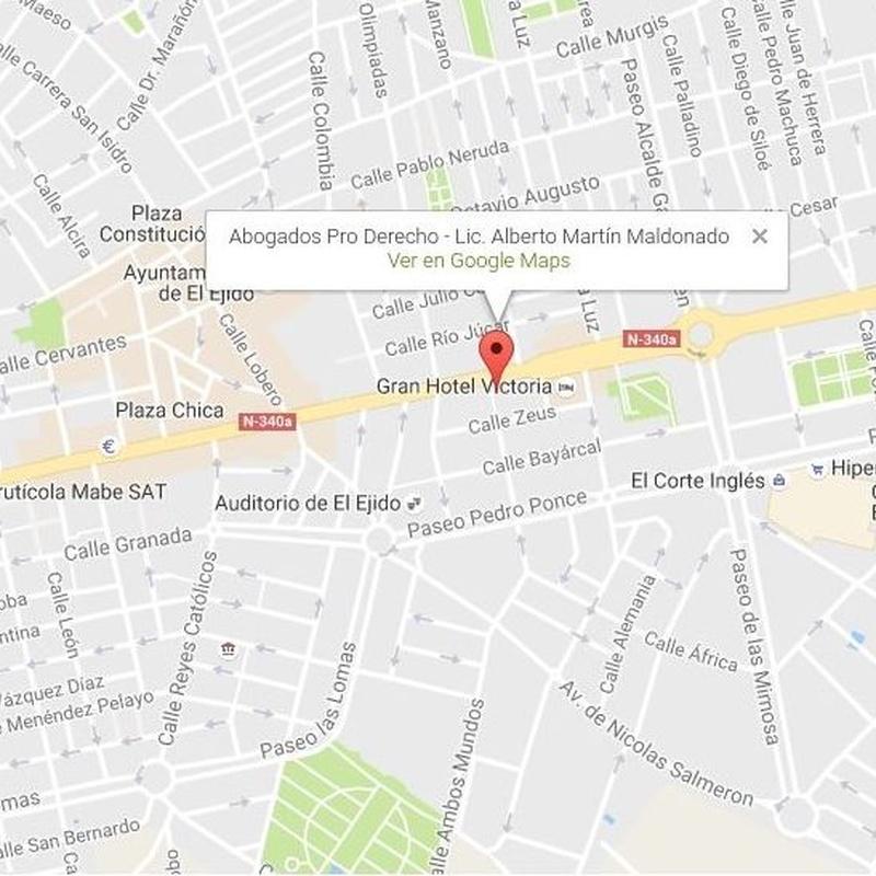 Despacho en EL EJIDO: Servicios de Abogados Pro Derecho- Lic. Alberto Martín Maldonado
