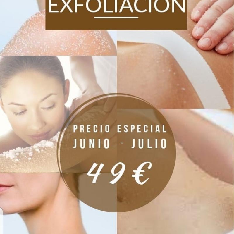 Oferta junio y julio exfoliacion mas masaje relajante barrio del pilar