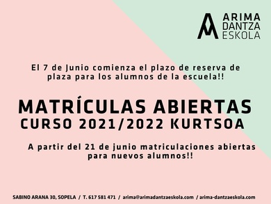 MATRICULAS ABIETAS/ MATRIKULAZIO EPEA IREKITA