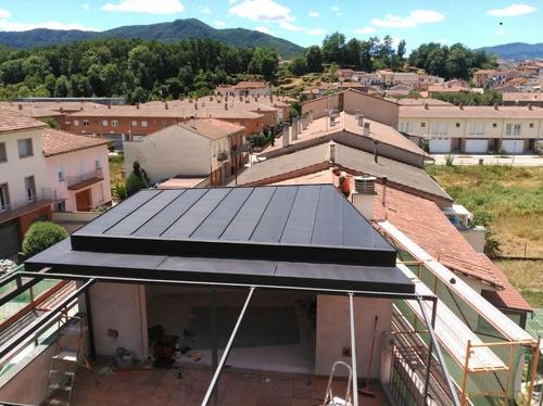 cubierta de Anthra-zinc en Girona