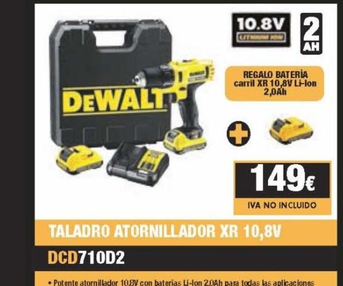 Oferta especial DEWALT Taladro XR.  180.29 € IVA íncluido