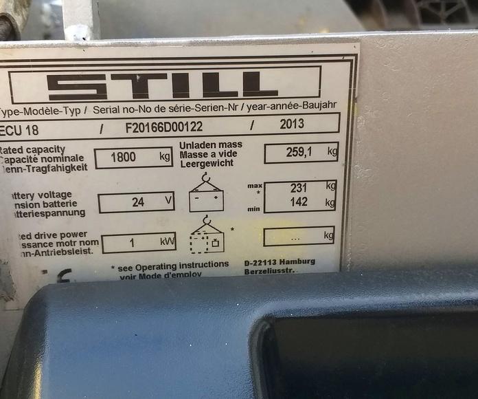 VENTA TRANSPALETA STILL REACONDICIONADA: Maquinaria de ocasión de Carretillas Elevadoras A.L.A., S.L.