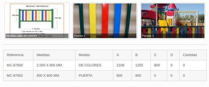 Vallas metálicas de colores Valencia