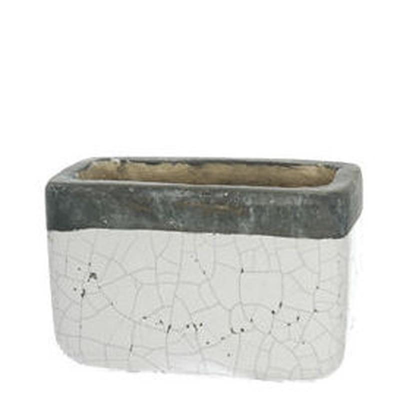 JARDINERA CEMENTO RECTANGULAR (BLANCO-GRIS). REF.:79050021/WH PRECIO:2.75 €