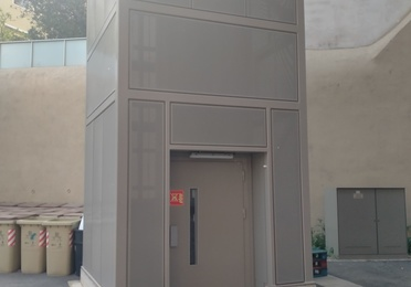 Estructura Metálica para Montacargas con pasarela Plaza toros Tarragona.