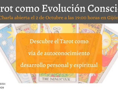 Charla El Tarot  Evolutivo, una  herramienta de autoconocimiento, desarrollo personal y espiritual.