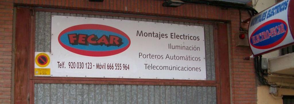 Montajes eléctricos en Ávila | Fecar