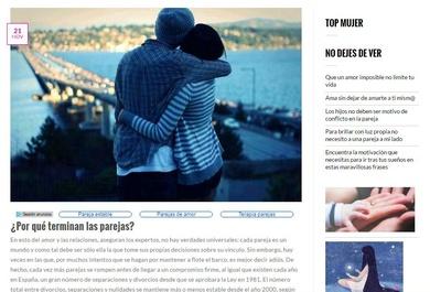 """¿Por qué terminan las parejas"""" Nuevo artículo"""