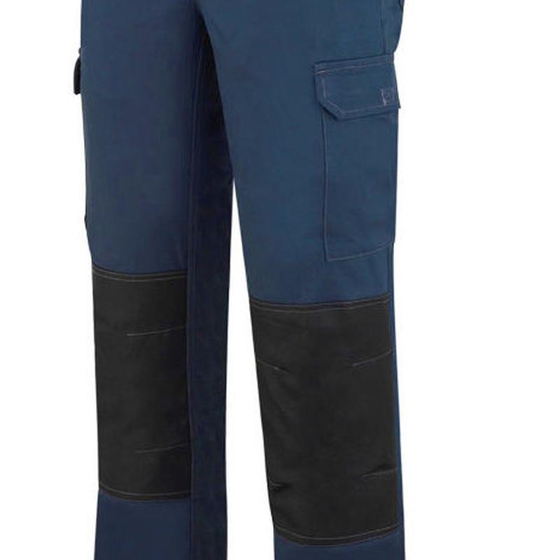 Pantalón elástico de algodón y elastano. Color Azul marino.: Catálogo de Frade Ropa de Trabajo