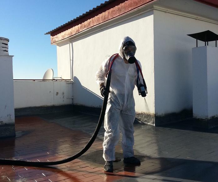 Impermeabilizacion de terraza con poliurea.