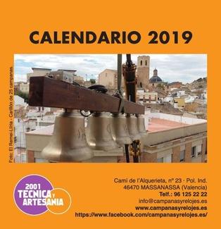 Calendario de campanas 2019 - 2001 Técnica y Artesanía, S. L.