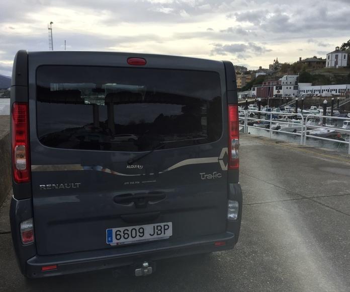 Alquiler fugoneta pasajeros Asturias