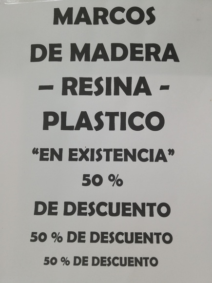 Marcos de Madera, resina y plastico.: Catálogo de Mercería y Manualidades Ángel y Feli