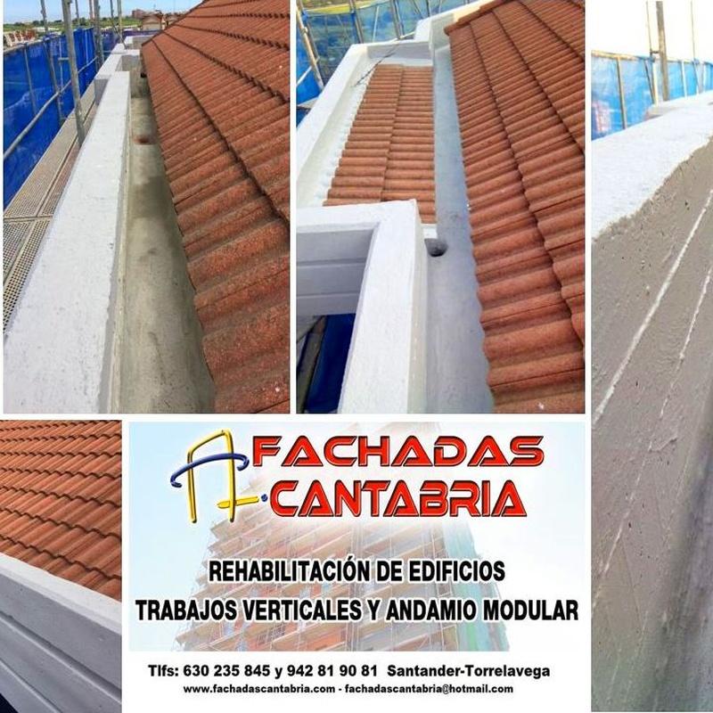 impermeabilización de pesebrones, canalones, aleros Torrelavega.
