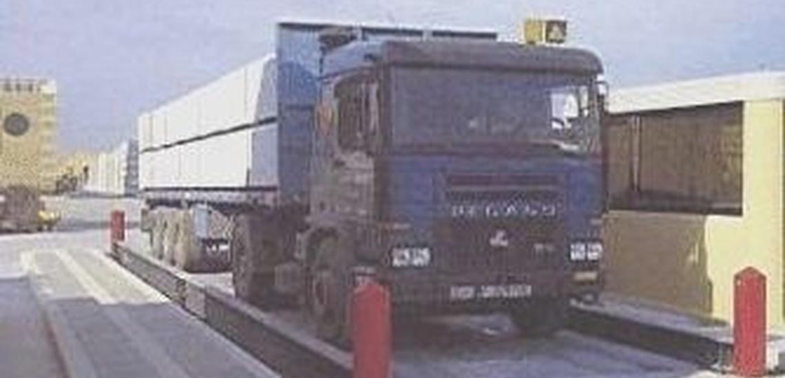 Pesaje de camiones en Bizkaia