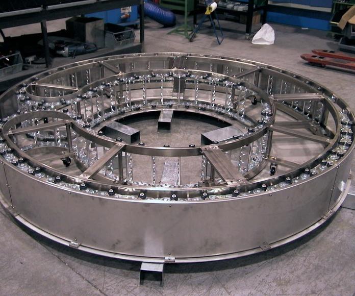 Cadena portacables de acero giratoria