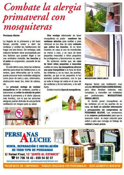 ARTICULO DE PERSIANAS ALUCHE COMBATE LA ALERGIA