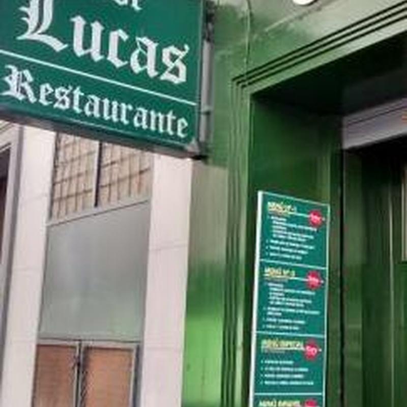 Menú Sábado y Domingo: Nuestros Productos de Asador Lucas