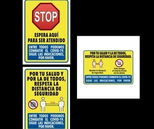 Pancartas informativas Covid19 Pack 3