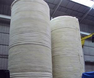 Calorifugado depósitos con poliuretano + lana de roca