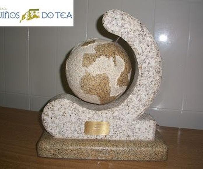 Elementos decorativos en piedra natural