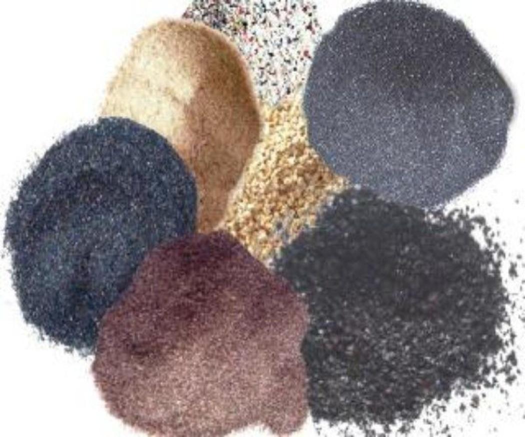 Diferentes tipos de abrasivos en los procesos de chorreado