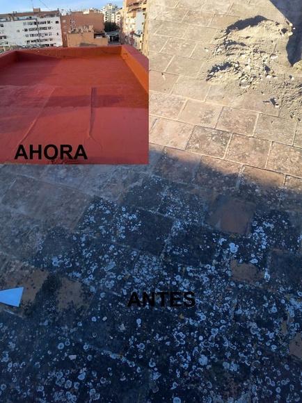 IMPERMEABILIZACIÓN ELASTICA ( CAUCHO) C/ SARGENTO MORAGUES VIDAL EN PALMA DE MALLORCA