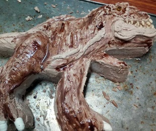 Pastis de nata trufa dinosaurio rex