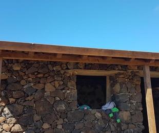 Construcción de porche de madera en Tenerife