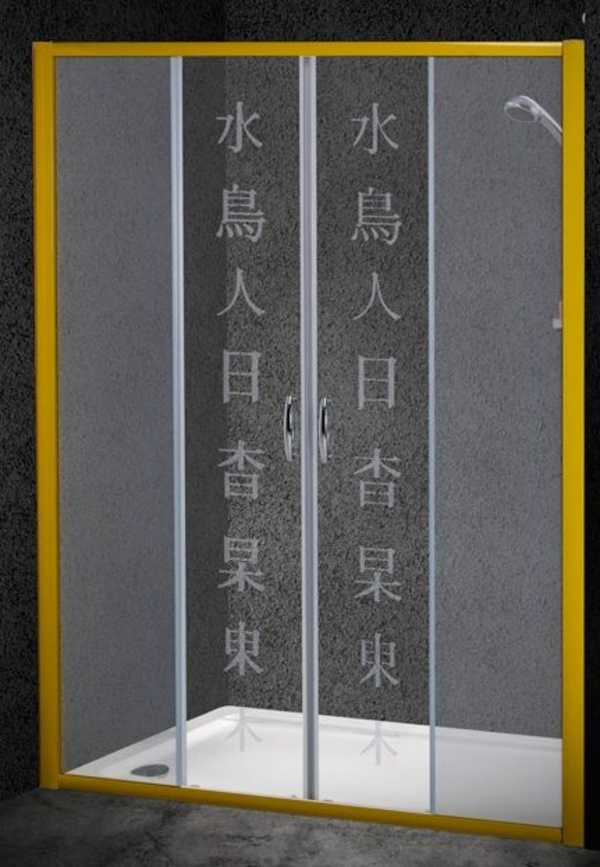 Mampara frontal de ducha Liberty-Armonía (2 hojas fijas + 2 correderas)