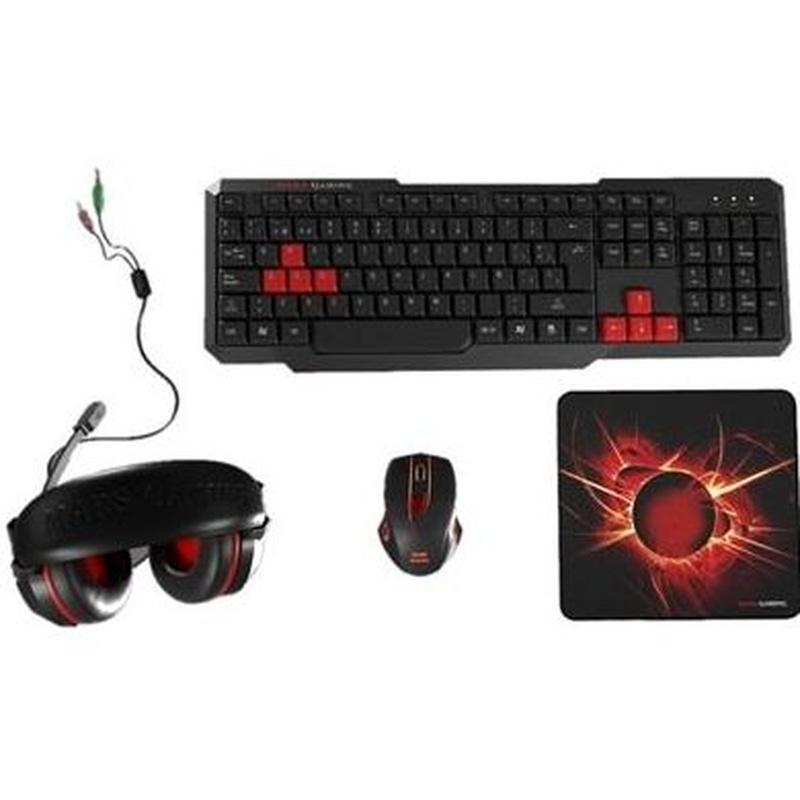 Tacens Mars Gaming MACP1 Teclado+Rat+Auric+Alfombr : Productos y Servicios de Stylepc