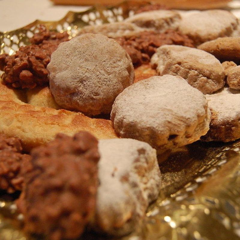 Mantecados y dulces navideños