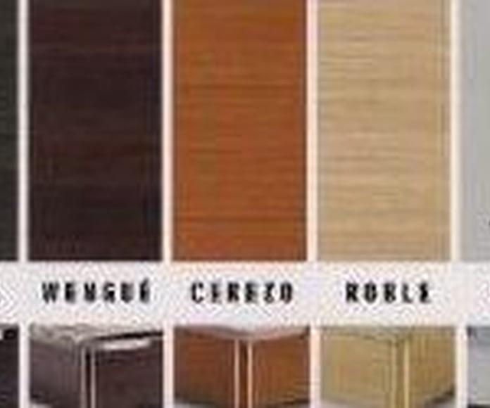 Colchones y somieres en EV Colchonerías: Bancadas de madera en diferentes colores