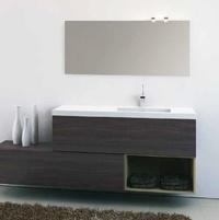 Mueble Modular Complet C4 de 1 cajón+decorativo laca madera nogal oscuro