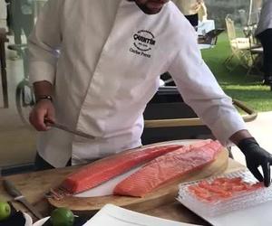 Corte de salmón