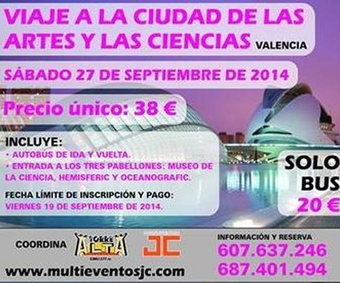 Viaje a la Ciudad de las Artes y Las Ciencias de Valencia desde Murcia, Viajes Murcia, Viajes baratos Murcia,Viajes Torre Alta
