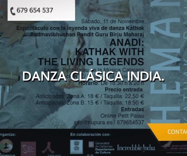 Danza clásica india en Eixample, Barcelona | Núpura