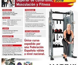 Curso de Entrenador Superior de Culturismo, Musculación y Fitness