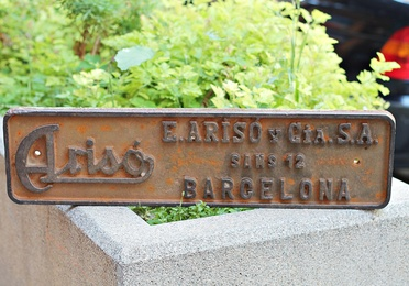 Placa de hierro industrial