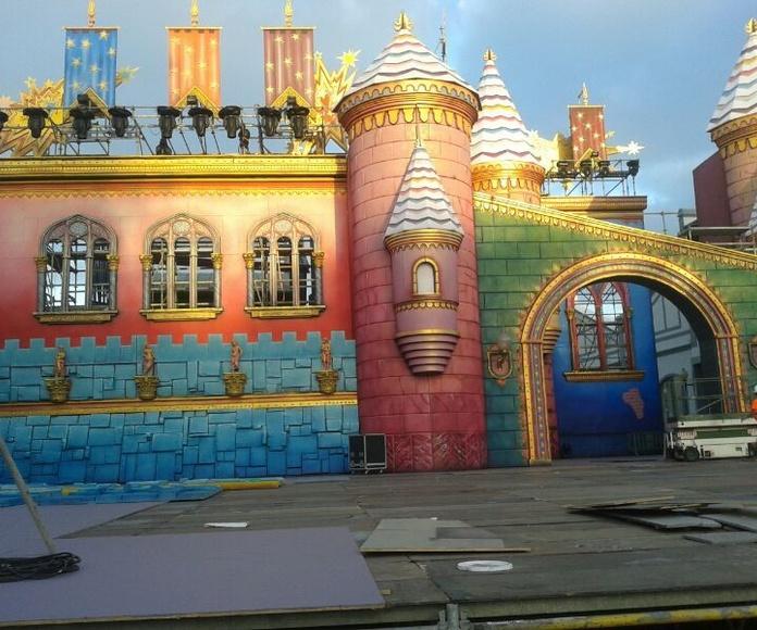 Escenario Carnaval Fantasía 2014 (montaje del escenario)