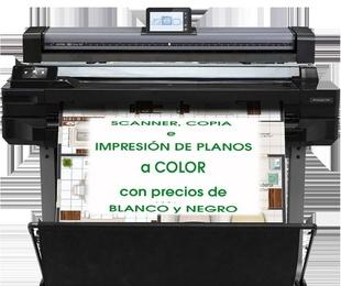 Scanner, copia e impresión de plano