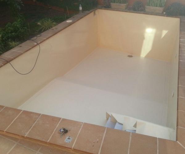 Proceso reparación piscina