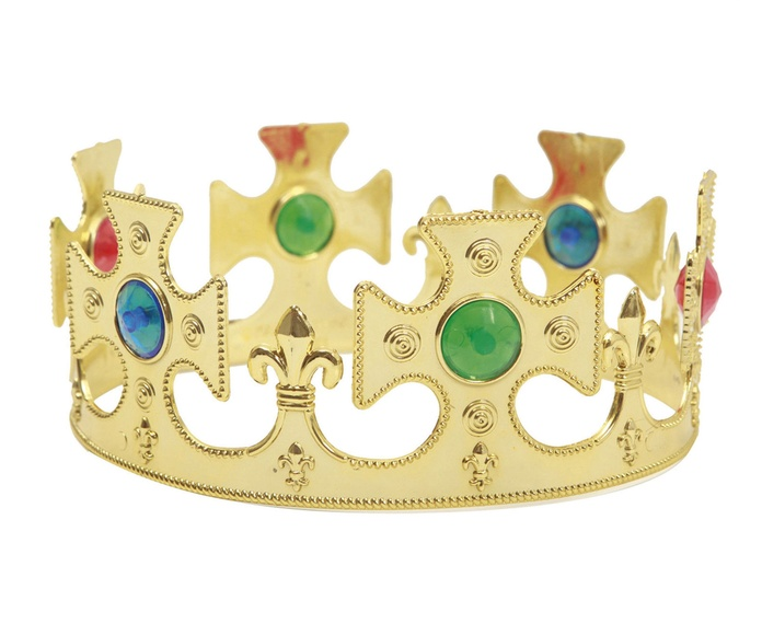 Corona rey oro ajustable