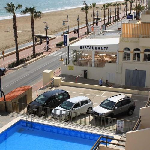 Vistas de los apartamentos en primera línea de playa
