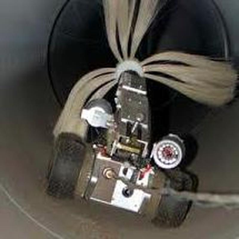 Robot para limpieza de conductos.